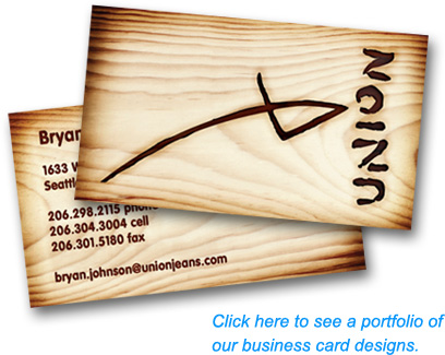 Click here to see a portfolio of our business card designs.