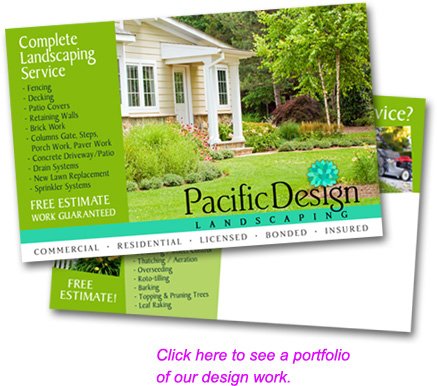 Click here to see a portfolio of our design work.